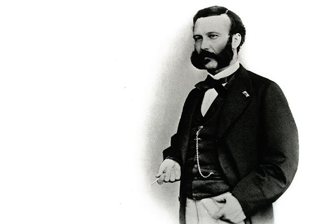 Foto: Portrait von Henry Dunant - Gründer des Roten Kreuzes